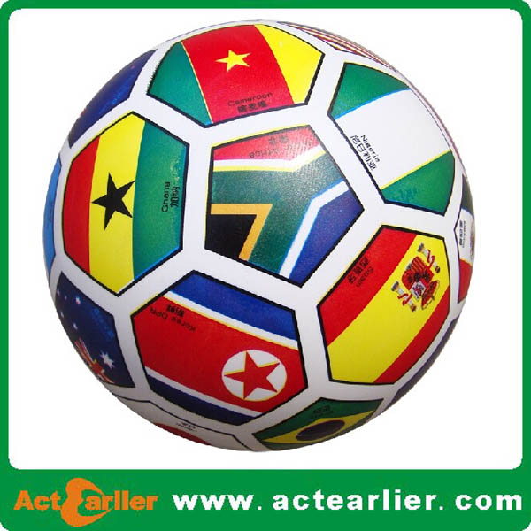 National flag rubber soccer ball