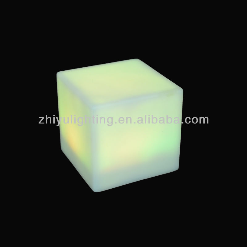 Dongguan battery powered plastic led color changing square night light