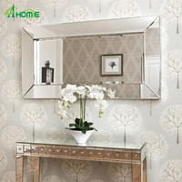 living room home decorative Deep Large All Glass Framed Wall Mirror