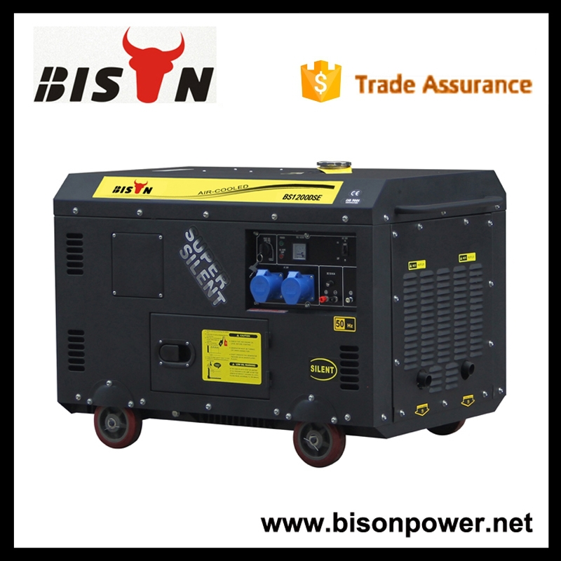 BISON CHINA Taizhou Reliable Easy Move With Tire Kit Diesel Generator Set 15kv