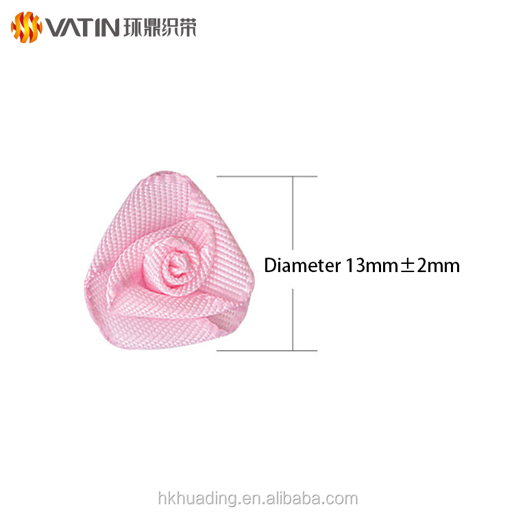 Gold Trade Service Provider Wholesale Custom 1 / 4 Inch Polyester Organza Triangle Artificial Rose For Luxury Gift