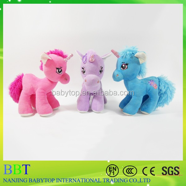 Factory Price Cute Colorful Stuffed Pony Horse Plush Toys
