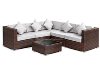 Sectional outdoor sofa furniture/round rattan garden furniture/patio sectional living furniture