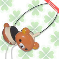 2015 Hot sell cute bear wired headphone , high quality over ear headphone