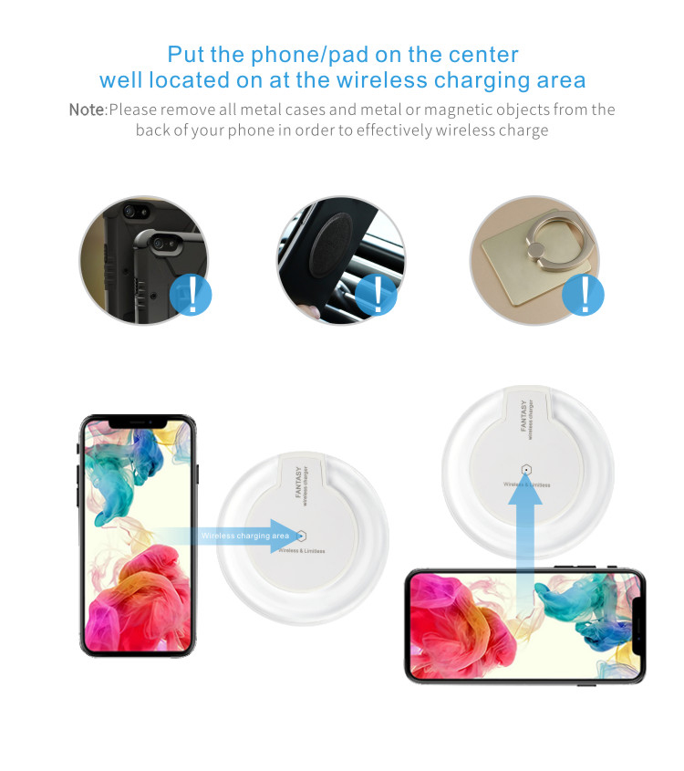 2018 Portable Compatible qi Sans Fil Chargeur de Charge - ANKUX Tech Co., Ltd