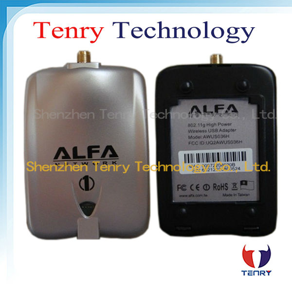 Alfa Wireless Adapter with 2dbi &8dbi antena