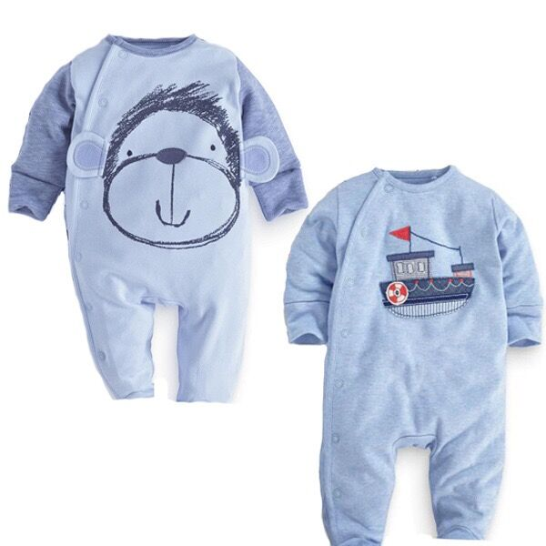 lovely baby long sleeve clothing <strong>embroidery</strong> newborn baby boy romper wholesale