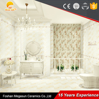 Hot Sale ceramic tile with flower design/kitchen wall tile stickers