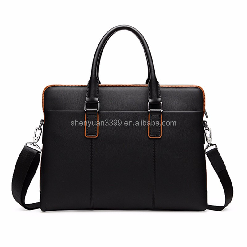 2016 China supplier western style mens tote bags,Lichee Pattern pu leather briefcase,high quality businese bags