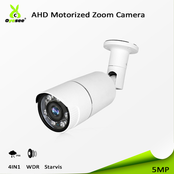 Competitive price cctv smart security 5MP ahd bullet 4 in 1CVBS/AHD/TVI/CVI sony sensor ir vision night 40m motorized lens ip66