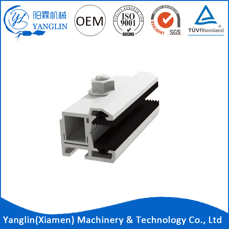 2016 latest design thin film pv solar panel end clamps