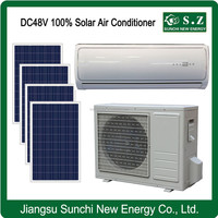 Off grid 100% hot sale DC48V split home air conditioner no need solar generator