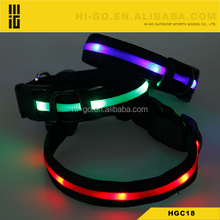 2017 new hot sale LED dog collar for male dogs
