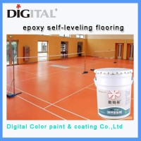Non-solvent self-leveling clear epoxy floor paint
