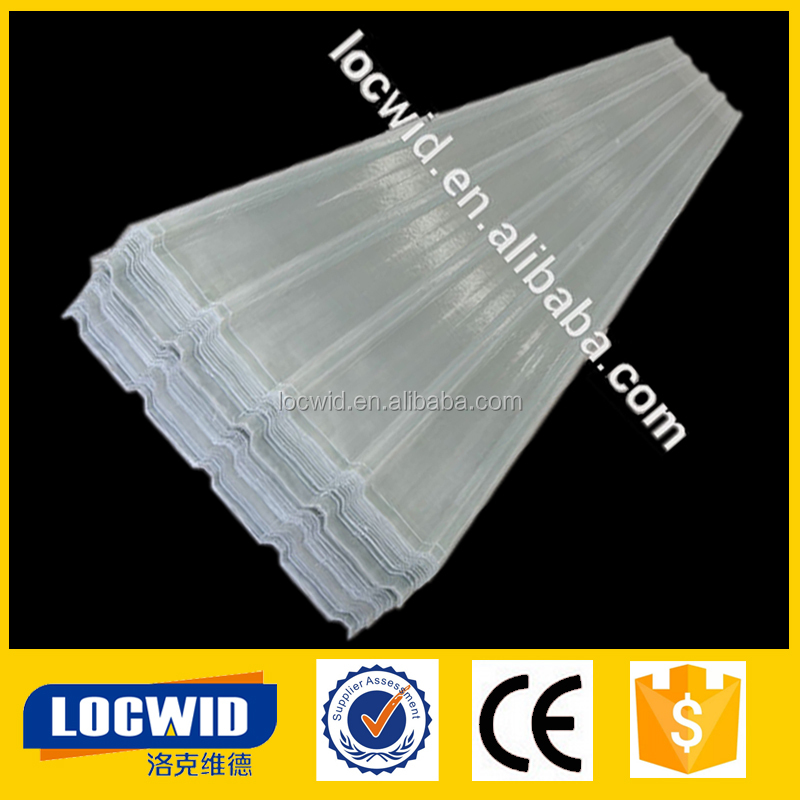 FRP corrugated white plastic roof sheet