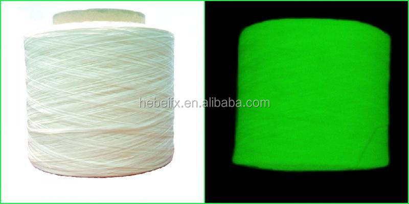 Get Free Giant Yarn and Decoractive fancy polypropylene sewing embroidery thread glow in the dark yarn