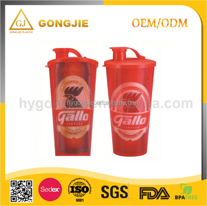 2017 hot selling, Promotional hard plastic cup with lid and straw ,snack and drink in one cup