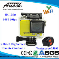 Wifi Action Camera with 170 degree,suitable for Helmet Motorcycle 4K wirless underwater camera