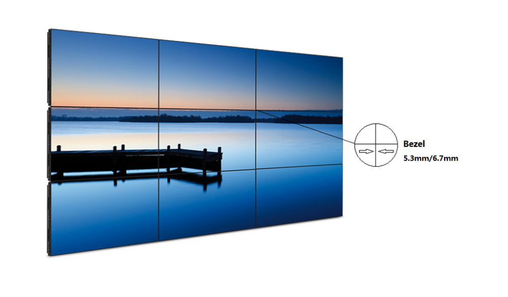 Betvis 5.3mm/6.5mm bezel video wall lcd display
