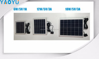 Outdoor Portable 6W-18W solar panel USB Solar Charger For iPhone PDA Smart Phone MP3 MP4