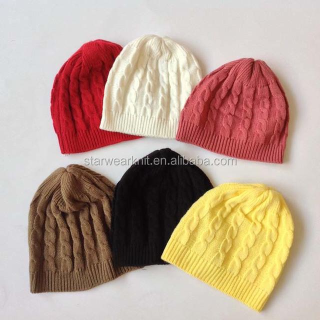 wholesale custom winter beanie for women