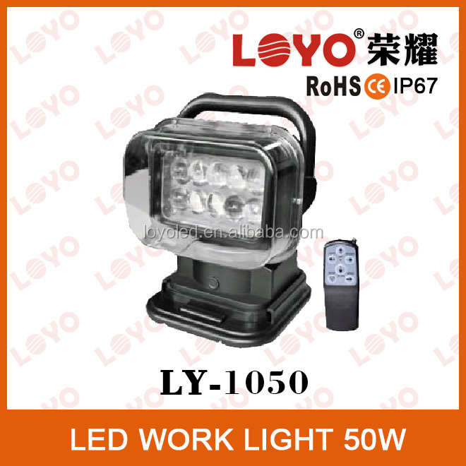 Hottest 50w led truck work lights 10-30V waterproof led work lamp wholesale led remote controller