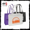 Pictures printed polyester nonwoven shopping bags witn tote