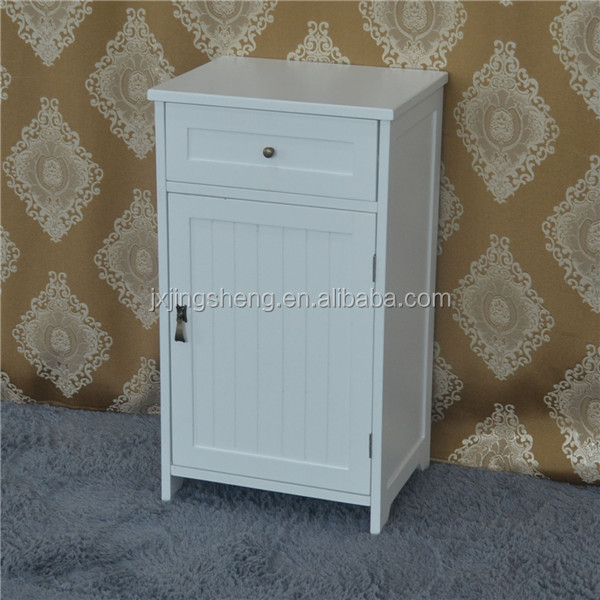 Modern Bathroom furniture ivory wooden used bathroom washbasin cabinet with 1 drawer 1 door