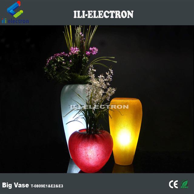 Outdoor led pots,led lighted flower vase,led plastic plant pot