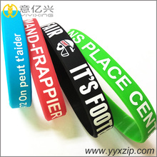Wholesale cheap custom silkscreen printed rubber silicone bracelet wristband