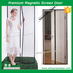 Magnetic Button Curtains For a Door Let Cool Air In