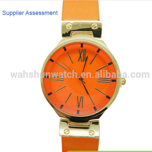 New Colorful Japan movement cheap alloy watches ladies fashion leather belt watch
