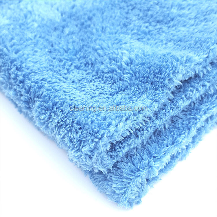 High quality car wash detailing quick drying edgeless plush microfiber towel