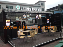 Portable container coffee shop, shipping container coffee shop, container coffee shop restaurant for sale