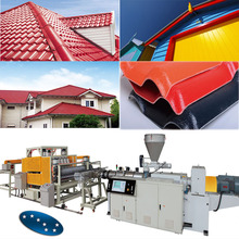 factory price new designed plastic pvc glaze roof tile production line / manufacturing line / machine