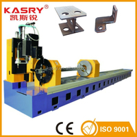 Square pipe gas cutting machine pipe front and back move automatically