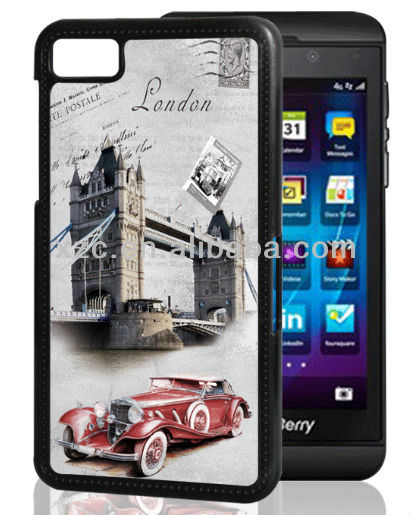 3D sublimation phone case for blackberry Z10,leather cover for meizu m1 note