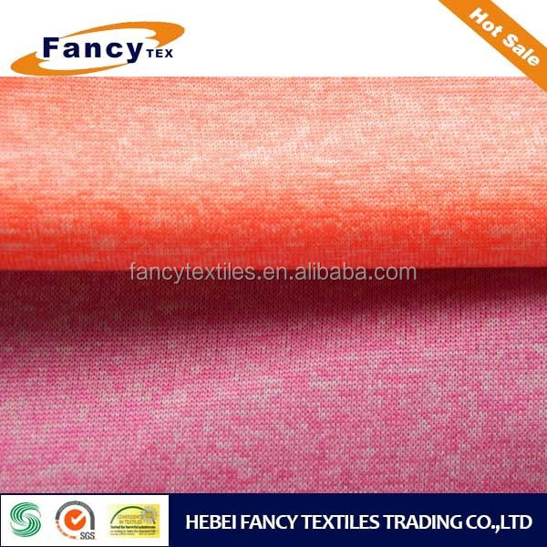 cationic polyester no span single jersey fabric for T-shirt