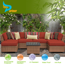 Space Saving Heavy Wicker Acrylic Outdoor Furniture