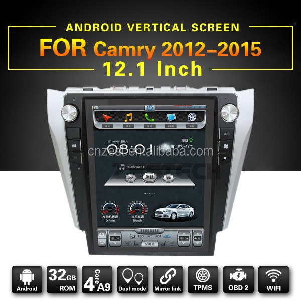 Android5.1 12.1 inch Screen Car Radio GPS Navigation for Toyota Camry 2012 2013 2015 multimedia audio GPS USB BT 3G dongle