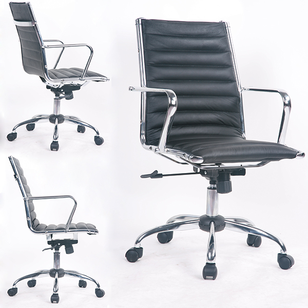 Hot Sale Ribbed Mid Back office chair price Style Air Conditioned Office Chair for Wholesale
