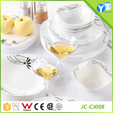 JC-CJ008 China Classic Opal Glass Dinnerware