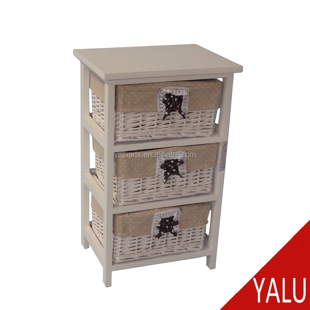 Eco friendly bathroom chest vanity storage cabinet with for Bathroom cabinet with baskets