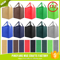 Reusable Reinforced Handle Grocery foldable shopping bag