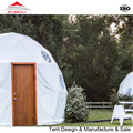 new style 6m steel frame movable dome house with wooden door for sale