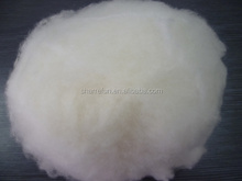 super soft dehaired and carded lambs wool white 16.5mic/30-32mm