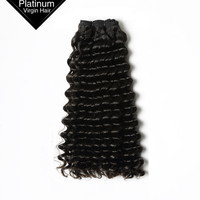 VV Black Girl Bundles African American Human Wholesale Remy Hair Extension 10a Brazilian Virgin Hair Deep Wave