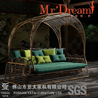 exotic retro wicker swing bed children outdoor garden bed mr dream furniture family outdoor sofa bed CF43-2587