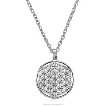 Flower of Life Seed of Life Pattern Pendant Necklace Om Yoga Peace Symbol Mandala Hexagon Sacred Geometry Jewelry Fleur De Vie