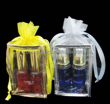 LOW MOQ Eco-friendly clear cosmetic promotional PVC drawstring bag\ gift bag \ perfume bag